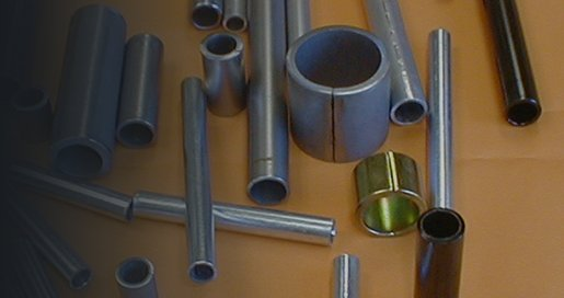 split steel spacers, spacer tubes and bushings